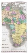 1827 Finley Map Of Africa Beach Towel