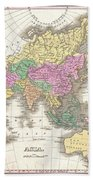 1827 Finley Map Of Asia And Australia Beach Towel