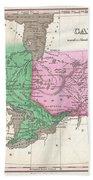 1827 Finley Map Of Canada  Beach Towel