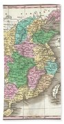 1827 Finley Map Of China  Beach Towel