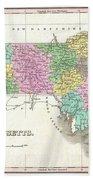 1827 Finley Map Of Massachusetts Beach Towel
