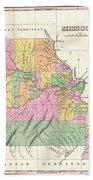 1827 Finley Map Of Missouri Beach Towel