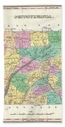 1827 Finley Map Of Pennsylvania Beach Towel