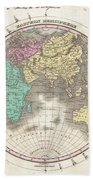 1827 Finley Map Of The Eastern Hemisphere  Beach Towel