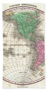 1827 Finley Map Of The Western Hemisphere Beach Towel