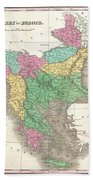 1827 Finley Map Of Turkey In Europe Greece And The Balkans Beach Towel