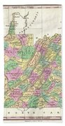 1827 Finley Map Of Virginia Beach Towel