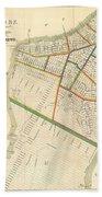 1831 Hooker Map Of New York City Beach Towel