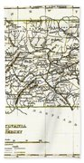 1835 Pennsylvania And New Jersey Map Beach Towel