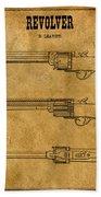 1837 Leavitt Revolver Patent Art 1 Beach Towel