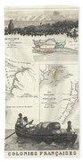1852 Levassuer Map Of Senegal Senegambia And Madagascar Beach Towel