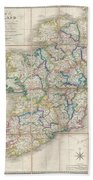 1853 Wyld Pocket Or Case Map Of Ireland Beach Towel