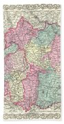 1855 Colton Map Of Bavaria Wurtemberg And Baden Germany Beach Towel