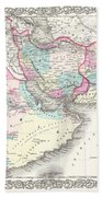 1855 Colton Map Of Persia Afghanistan And Arabia Beach Towel