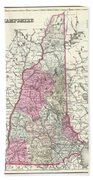 1857 Colton Map Of New Hampshire Beach Towel