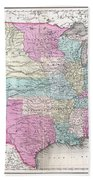 1857 Colton Map Of The United States  Beach Towel