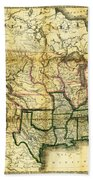 1861 United States Map Beach Towel