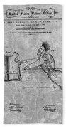 1869 Life Preserver Patent Charcoal Beach Towel