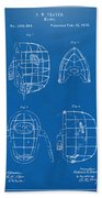 1878 Baseball Catchers Mask Patent - Blueprint Beach Towel by Nikki Marie Smith