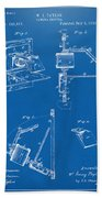 1881 Taylor Camera Obscura Patent Blueprint Beach Towel