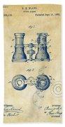 1882 Opera Glass Patent Artwork - Vintage Beach Towel