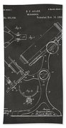 1886 Microscope Patent Artwork - Gray Beach Towel