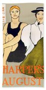 1897 - Harpers Magazine Poster - Color Beach Towel