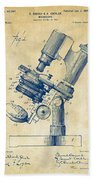1899 Microscope Patent Vintage Beach Sheet