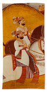 18th Century Indian Painting Beach Towel