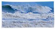 Hurricane Storm Waves Beach Towel