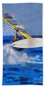 Windsurfing Beach Towel by George Atsametakis