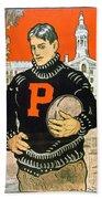 1901 - Princeton University Football Poster - Color Beach Towel