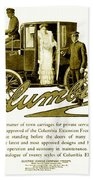 1903 - Columbia Motor Carriage Advertisement Beach Towel