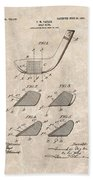 1903 Golf Club Patent Beach Towel