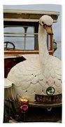 1910 Brooke Swan Car Beach Towel by Jill Reger
