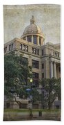1910 Harris County Courthouse  Beach Towel