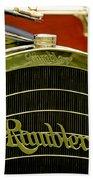 1910 Rambler Model 54 5 Passenger Touring Hood Ornament Beach Towel by Jill Reger