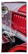 1912 Rolls-royce Silver Ghost Rothchild Et Fils Style Limousine Snake Horn -0711c Beach Towel