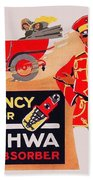 1913 - Geschwa Automobile Shock Absorber Adbertisement - Color Beach Towel
