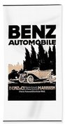 1914 - Benz Automobile Poster Advertisement - Color Beach Towel