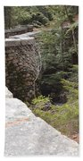 1917 Carriage Road Bridge Jordan Stream Acadia Maine Beach Towel