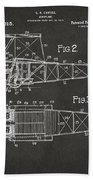 1917 Glenn Curtiss Aeroplane Patent Artwork 2 - Gray Beach Towel