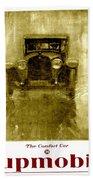 1918 - Hupmobile Automobile Advertisement - Color Beach Towel