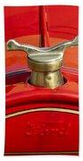 1919 Ford Volunteer Fire Truck Beach Towel