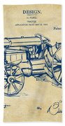1919 Henry Ford Tractor Patent Vintage Beach Sheet