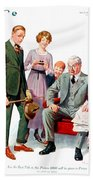 1920 - Life Magazine Cover - Engagement - J F Kernan - January 29 - Color Beach Towel