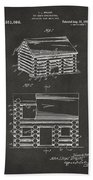 1920 Lincoln Logs Patent Artwork - Gray Beach Towel