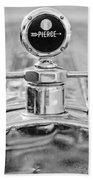 1920 Pierce-arrow Model 48 Coupe Hood Ornament - Motometer Beach Towel