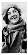 1920s 1930s Smiling Woman Dressed Beach Towel