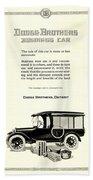 1921 - Dodge Brothers Business Car Truck Advertisement Beach Towel